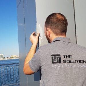aluminum facade repairs