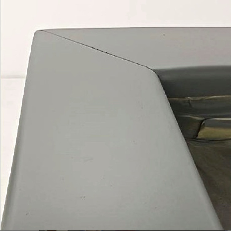 Powder coated surface after