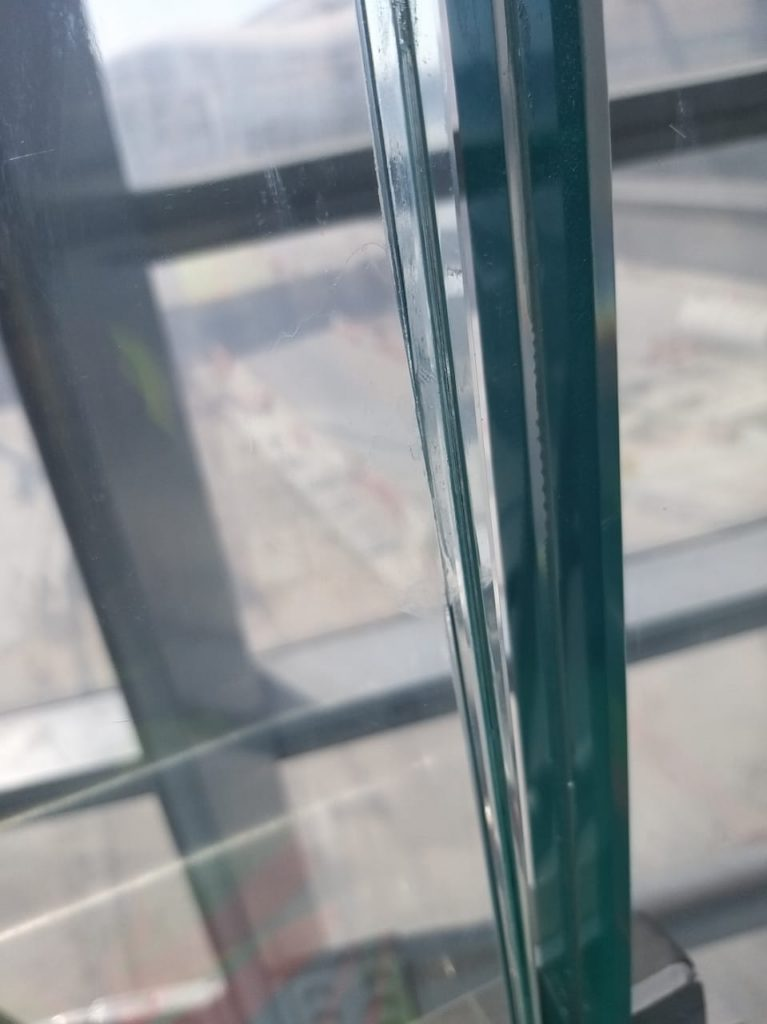 Chipped glass repaired