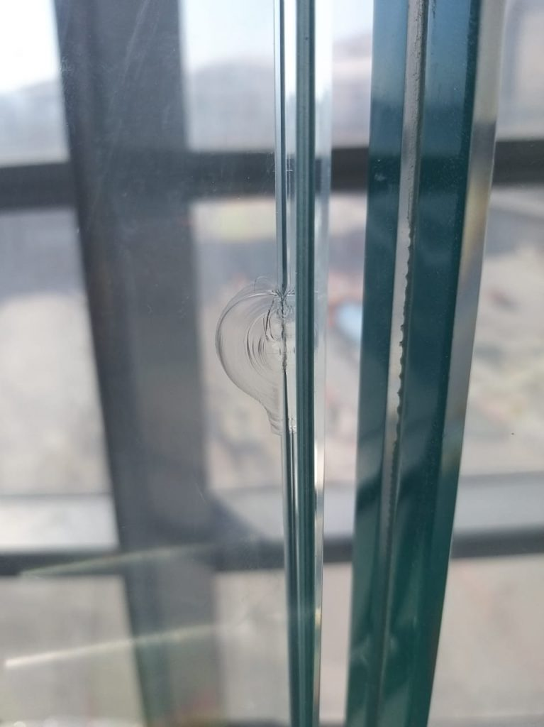 chipped glass